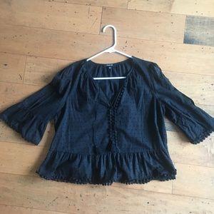 Madewell black tassel shirt